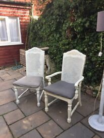 6 shabby chic dining chairs