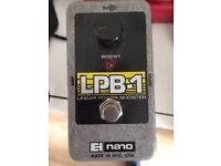 lpb-1 booster pedal (great for boosting your gain without losing tone)