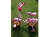 Bicycle Peppa Pig with stabilisers for ages 2 plus