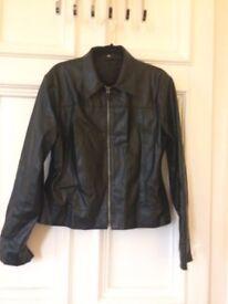 Leather look ladies jacket