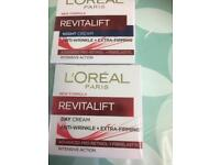 L'Oréal revitalift day and night cream 50ml each