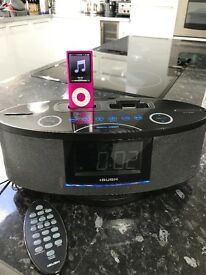Bush iPod dock with radio aux alarm and remote
