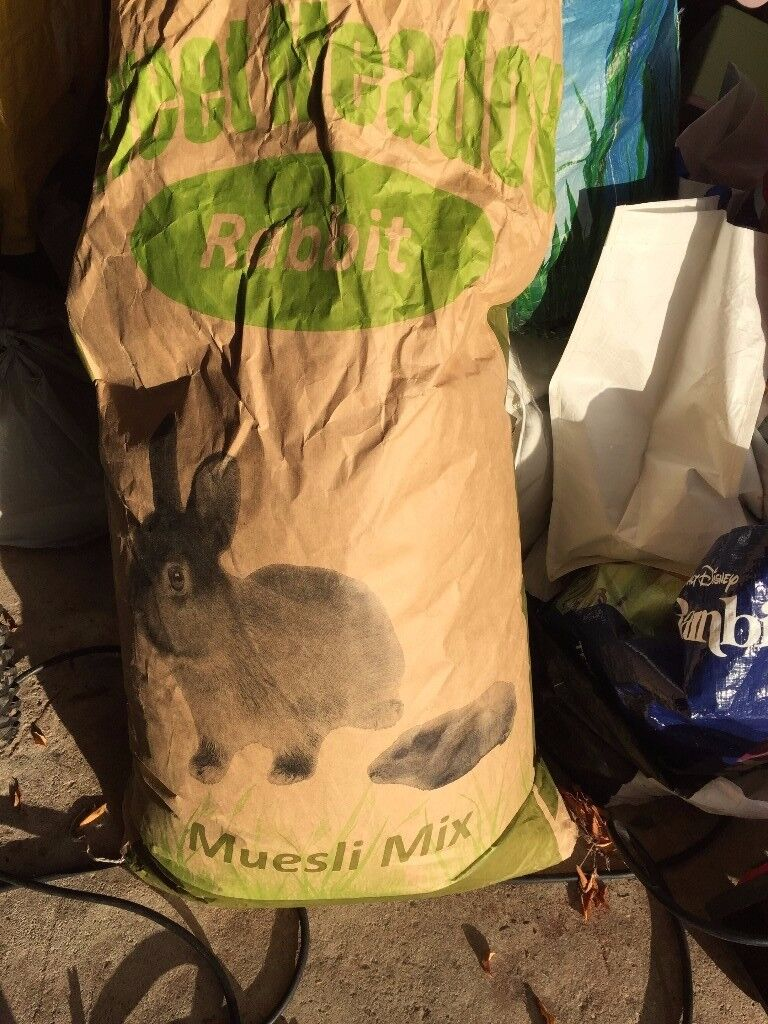 Rabbit food - a sack of muesli mix