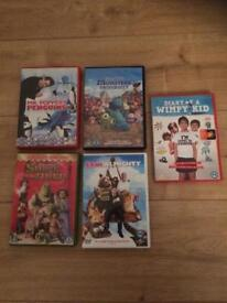 5 kids/family dvds..