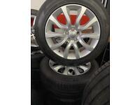 "20"" inch genuine Land Rover range 5x120 Vw transporter t5 t6 alloys wheels tyres"