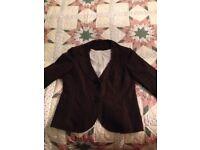 Autumn-brown linen jacket size 12