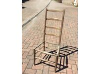 Vintage High Back Chair.