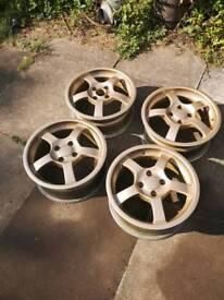 4x100 alloys no tyres