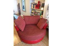 Oversized swivel armchair