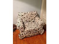 Floral armchair pick up only!