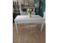 Shabby chic Edwardian dining table for six people
