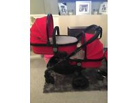 Double pushchair icandy peach 3