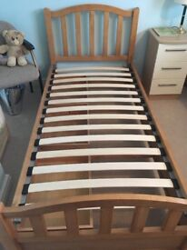 Single solid pine 3 drawer bed