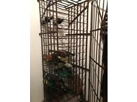 Vintage French metal wine cage for sox 145 bottles