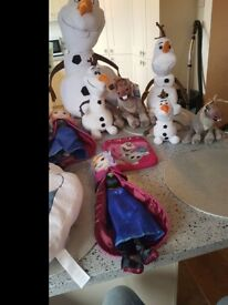 Disney Frozen Plush Teddy's and cushions for sale large collection
