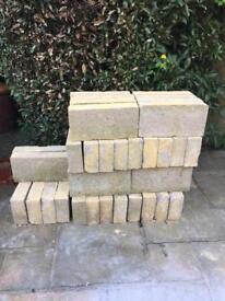 "4"" concrete blocks. 10 Square Metres total."