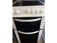 LOGIK ELECTRIC COOKER 50cm WIDE DOUBLE OVEN WITH GRILL FREE DELIVERY AND WARRANTY
