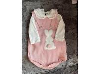 Baby girls romper and vest set 3-6m