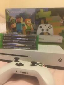 XBOX ONE S with 8 games