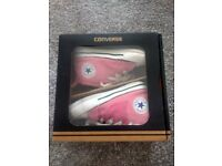 Pink Converse - size 3 infants. Approx age 6 - 9 month old baby