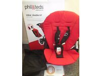 Phil & Teds Dot second seat double kit with mesh,instruction box