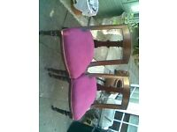 antique chairs just been recoverd set of 2
