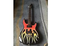 Cruiser by crafted electric guitar *flame body**