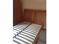 Elegant wooden double bed frame