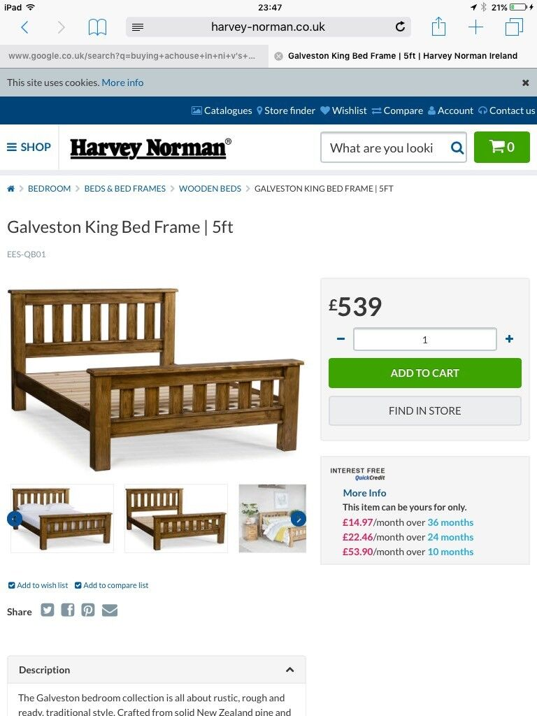 Harvey norman galveston bed in holywood county down gumtree harvey norman galveston bed jeuxipadfo Choice Image