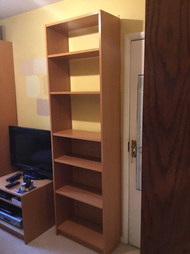 7 Shelf Ikea Billy Bookcase In Oak Veneer 60cm X 28cm X