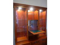 dresser top (hutch) display cabinet