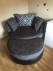 Brand new Cuddle Chair and Foot Stool from smoke and pet free home for sale