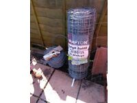 38m Stock fencing and 170m Barbed Wire - Top quality UK made Galvanised