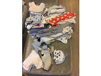 Baby boy clothes bundle (first size to 0-3)