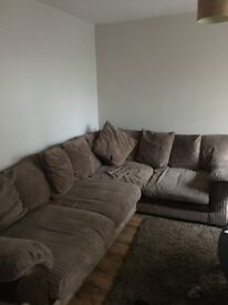 Beige corner sofa Really good condition. Selling cheap as need it gone