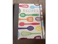 Recipe book/ journal/ folder
