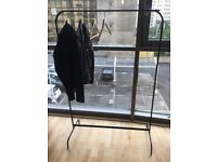 Black Steel Clothes Rail Rack Coat Hanger Frame Stand