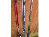 3 sea rods and 1 reel