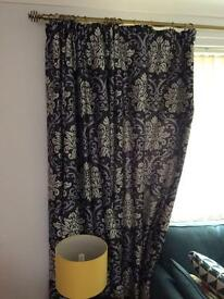 2 x sets of fully lined curtains grey