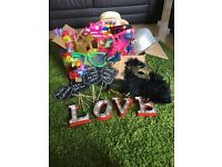 Wedding/party photobooth props and light up LOVE sign