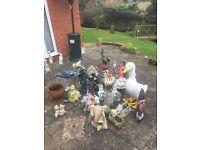 Assortment of Garden Ornaments
