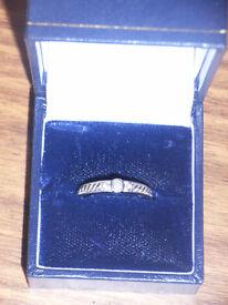 platinum & diamonds engagement ring, size o