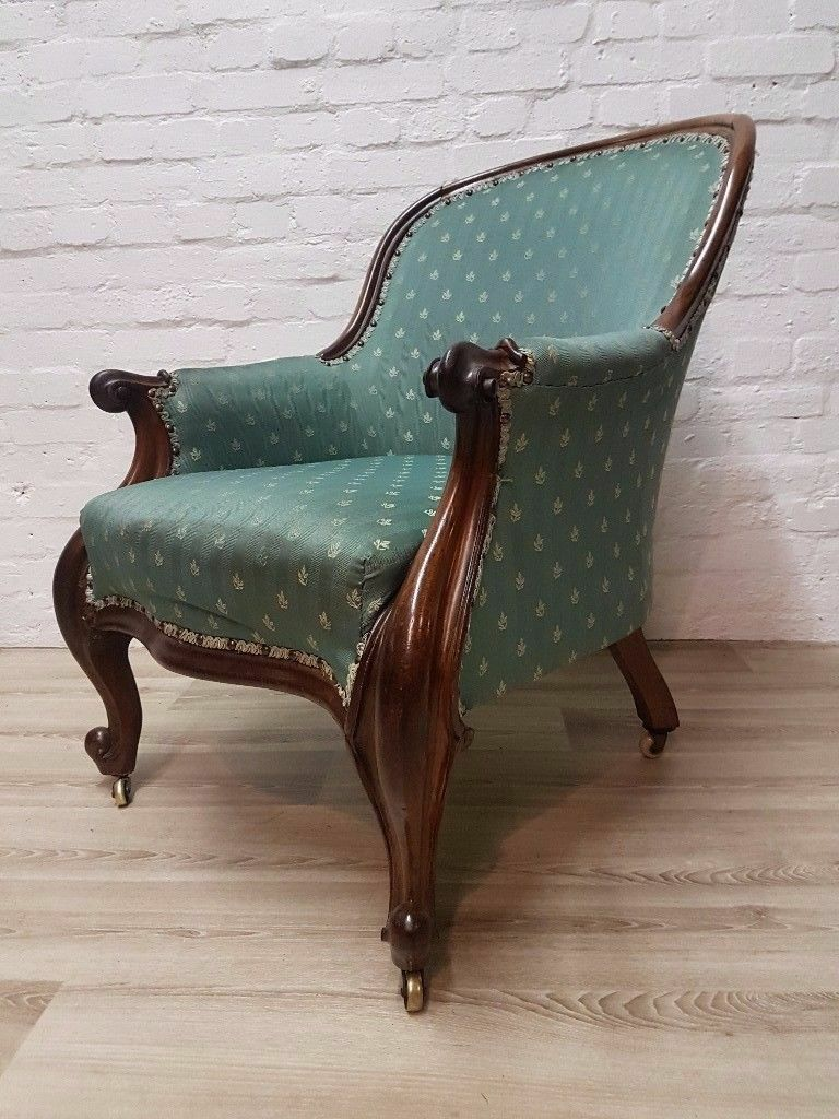 Victorian Rosewood Drawing Room Chair (DELIVERY AVAILABLE FOR THIS ITEM OF FURNITURE)