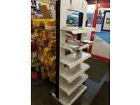Salon freestanding shelving unit