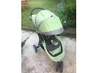 Baby Jogger Citi Mini single, 3 wheel pram - excellent condition