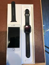 Apple iPhone 6 16gb and Apple Watch series 2 42mm