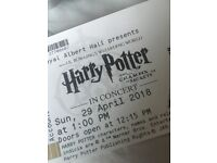 2 x Harry Potter in Concert at Royal Albert Hall - 1pm, 27th April