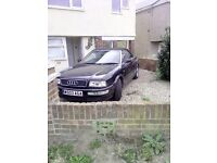 Audi Cabriolet black, mot , good runner . Not been used due to work commitments