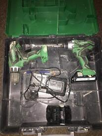 Hitachi drill set 18v