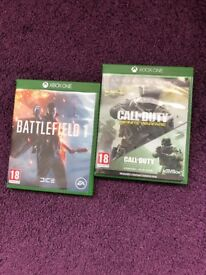 Xbox one games COD Infinite Warfare & Battlefield 1